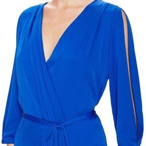 PRICE DROP! DVF Wrap Dress Long Sleeve Royal Blue